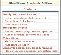 Academic Edition Contents